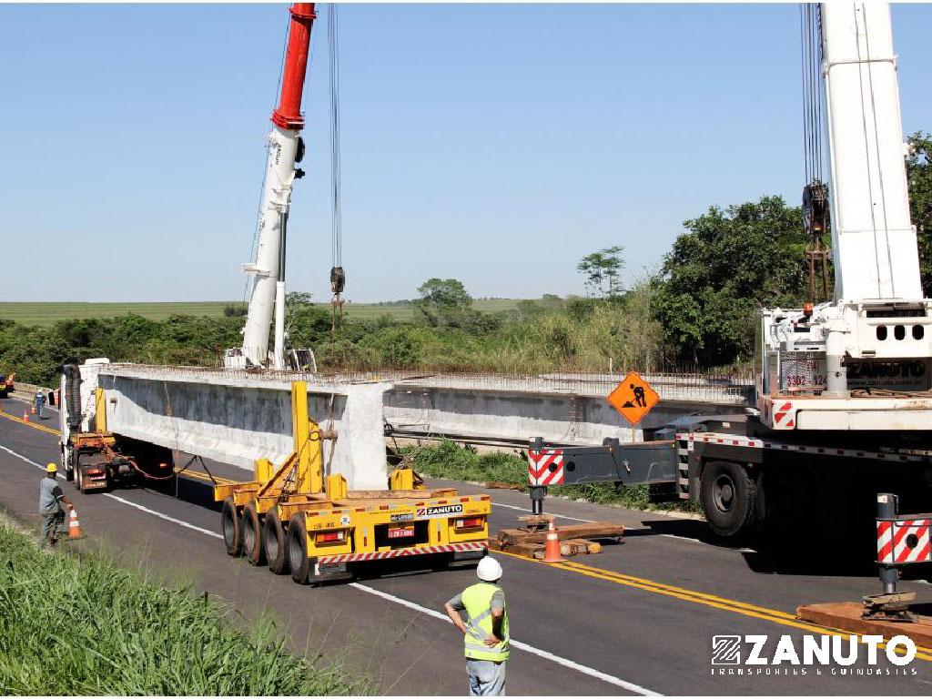 TRANS. / LANÇAMENTO VIGAS 65 t – BR-153 KM-210